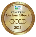 Pearsons Butchers Gold Standard award for sirloin steak