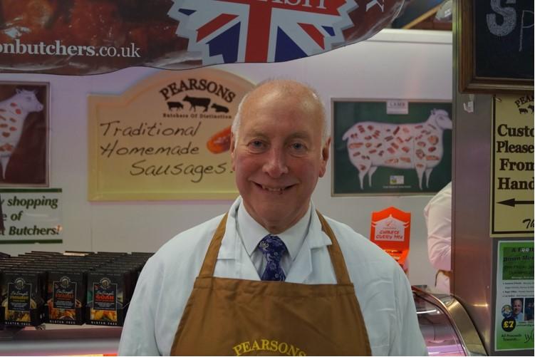 Alf Pearson Pearsons Butchers, Ashton Market Hall