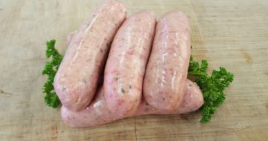 Trim & tasty sausages from Pearsons Butchers